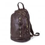 Distressed Leather Backpack with Zip - Londra by Campomaggi C014180ND