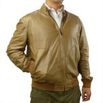 Bomber Jacket with Zip - Suede and Reversible for Men AB373-CA