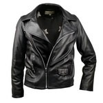 Leather Moto Jacket for Kids Patterned Lining Made in Italy AB361-NA/007