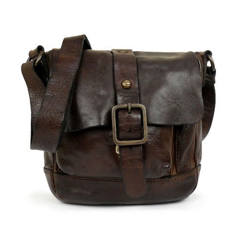 6ef600fefea9 Washed Leather Small Messenger Bag by Campomaggi - C006550ND