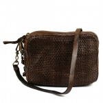 Washed Leather Crossbody Bag Fine Weave - Edera by Campomaggi - 006480ND C006480ND X0019