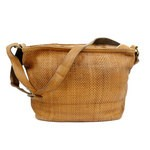 Leather Single Strap Woven Hobo Bag - Edera by Campomaggi - 006500ND X0019 C006500ND X0019