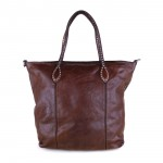 Leather Shopping Tote with Stud Details by Campomaggi C005650ND X0007