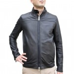 Mens Reversible Nappa Leather and Waterproof Jacket with Carry Bag AB393-NA