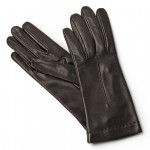 Leather Gloves Lined in Silk Made in Italy 1223-SE