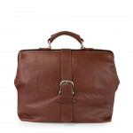 Leather Boston Doctor shape Bag Made in Florence 1510-VA